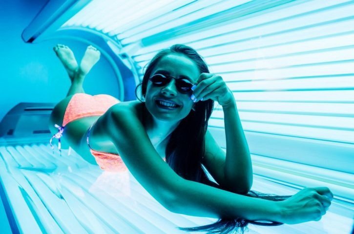 What is the danger of tanning beds?